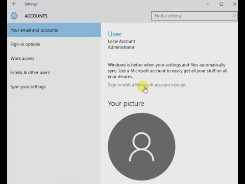 How to Setup & Switch to a Local Account in Windows 10 - 2018