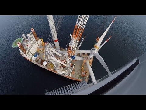 Wikinger Offshore Wind Farm Installation - Full Length