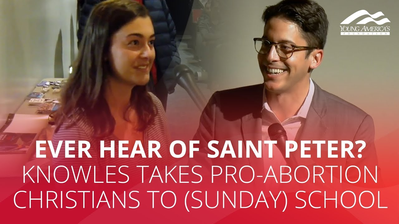 Ever hear of Saint Peter? Knowles takes pro-abortion Christians to (Sunday) school