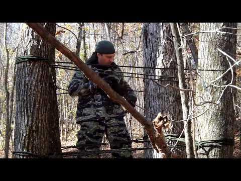 Rope Tree Shelter Plus Survival Blanket Plus Tree Shelves