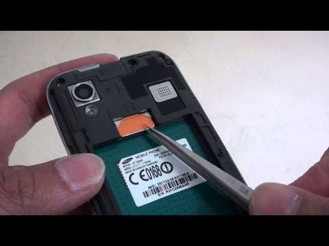 Samsung Galaxy Ace: How to Remove SIM Card