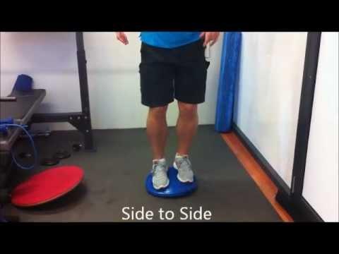 Ankle Rehabilitation Exercises for Ankle sprain or Ankle Pain