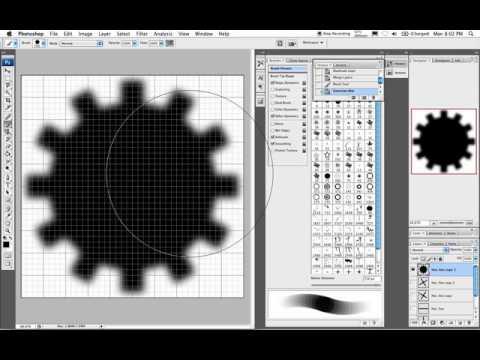 How to maak een tandwiel in Photoshop
