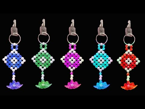 How To Make  Crystal Beads Key Chain || Beaded Keychains || You Can Do This