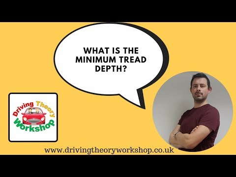 Driving Theory Test Tips - What is the minimum tyre tread depth?