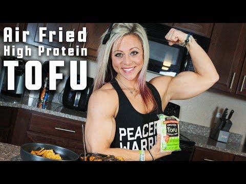 High Protein Vegan Meal - Air Fried Tofu