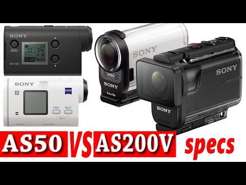 Sony Action Cam HDR-AS50 vs HDR-AS200V (Spec comparison)