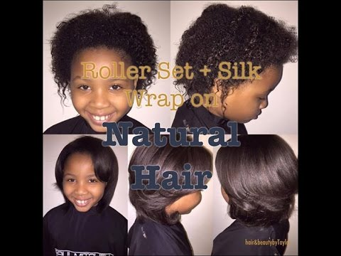 Roller Set + Silk Wrap on Natural Hair   Hair&Beauty with Tayler