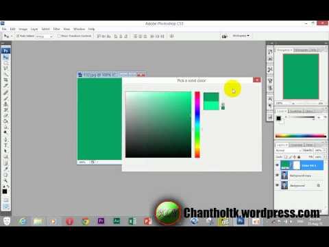 Adobe photoshop cs3-Change Color Background