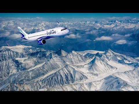FLIGHT FROM LEH TO DELHI | Amazing Himalayas | INDIGO |