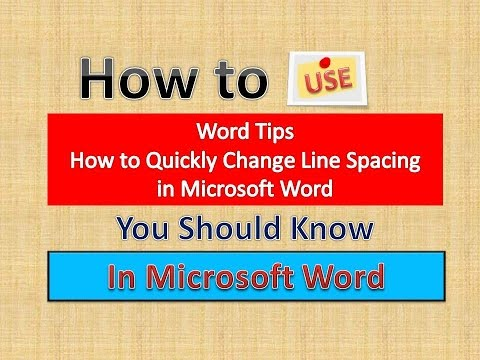 Excel Tips (How to Quickly Change Line Spacing in Microsoft Word) [English]