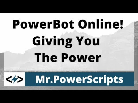 PowerBot Is Online! Giving You The Power!