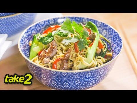 Pork Stir Fry Recipe with Vegetables and Noodles
