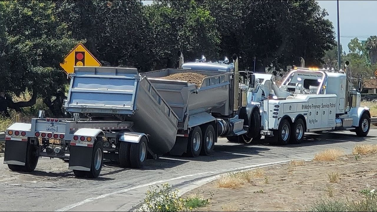 Heavy duty towing gone wrong!