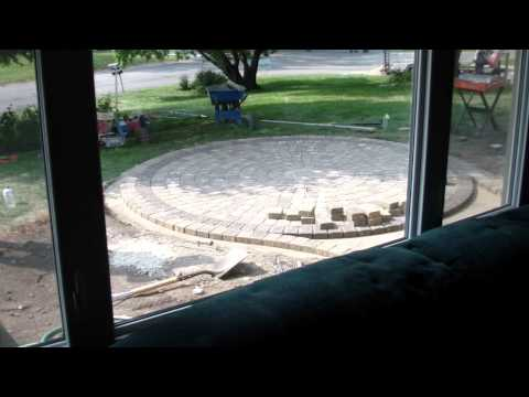 Paver patio in one day