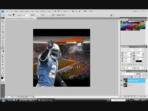 Photoshop CS4 how to make black and white some color spots