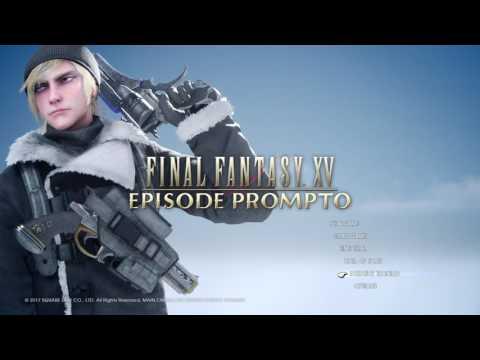 Final Fantasy XV - Episode Prompto Main Menu