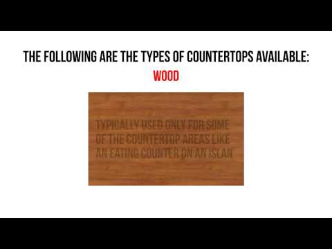 How To Select Your Kitchen Countertops