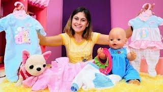 Download Kız oyunları. Halası bebek Gül'e yeni kıyafetler gönderiyor Video