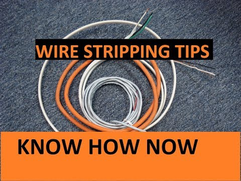 How to Remove Insulation From Wire
