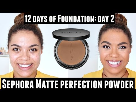 Sephora Matte Perfection Powder Foundation Review (Oily Skin) 12 Days of Foundation Day 2