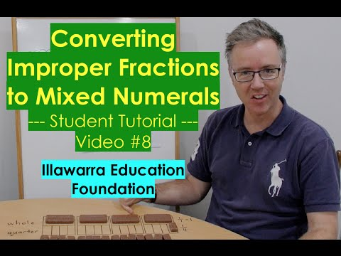 Converting Improper Fractions to Mixed Numerals