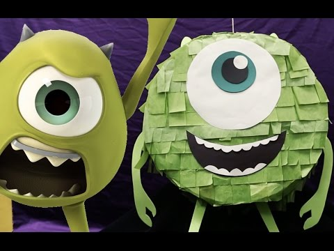 How To Make A Mike Wazowski Piñata | Disney DIY
