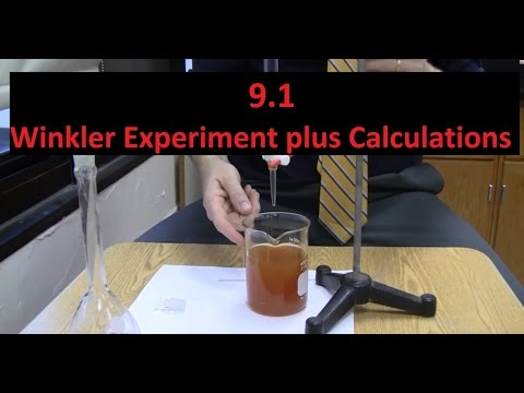 9.1 Winkler Experiment for Dissolved Oxygen (Chemical equations too) [SL IB Chemistry]