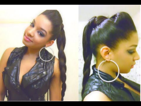 Bump Hair Braid Ponytail Hairstyle Tutorial : How To Easy Quick Fun New Rock Edgy Hairstyles :