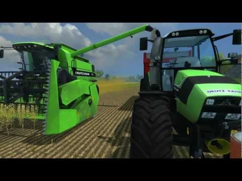 || Farming Simulator 2013 || Harvesting oil seed rape