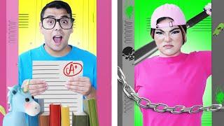 NERD VS POPULAR TEACHER | GOOD VS BAD PROFESSOR | CRAZY BODY SWAP FOR 24 HOURS BY CRAFTY HACKS