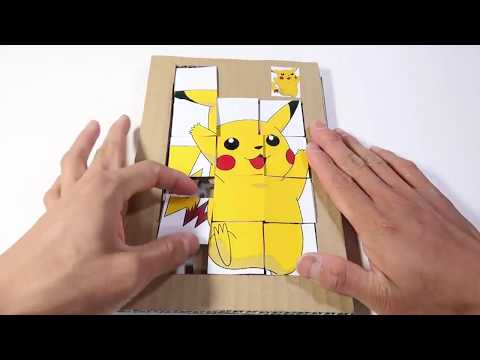 How to Make game Jigsaw Puzzle pikachu with Cardboard at Home