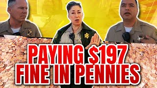 PASADENA COURTHOUSE - PAYING $197 JAYWALKING TICKET IN PENNIES - THEY TRY TO ARREST ME REPEATEDLY