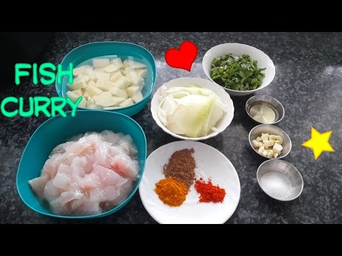 Simple fish and potato curry/ fish curry recipe/