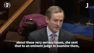 Enda broke Dáil rules when he called Gerry Adams a