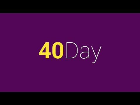 40 Day: Give something up