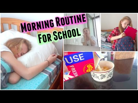 Morning Routine For School 2015! | MissHannahBeauty