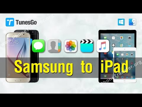 Data to iPad | How to Transfer Contacts,Photos,Music,VIdeos from Samsung to iPad