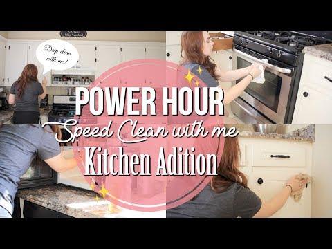 POWER HOUR SPEED CLEAN WITH ME KITCHEN ADDITION | KITCHEN DEEP CLEAN ROUTINE | Naomi Rose
