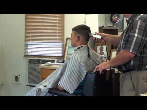 MILITARY BALD FADE HAIR CUT.