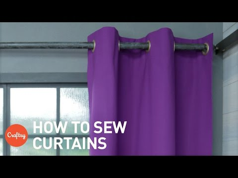 How to sew curtains: Easy grommet style (with free pattern) | Craftsy Sewing Tutorials