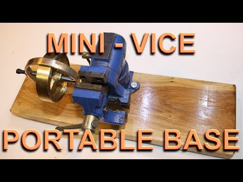 Making a portable Oak base for a Harbor Freight Mini Vise