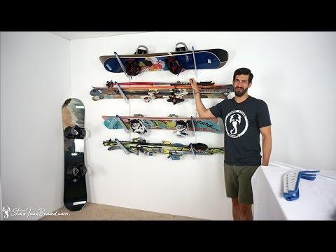 Ski & Snowboard Storage Rack | Home Rack | StoreYourBoard