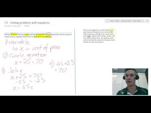 Solving problems with equations