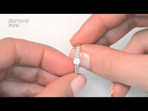 SDN3220 - Encrusted Diamond 0.96ct And Platinum 2 Ring Bridal Set