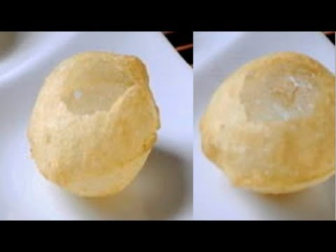 How to make Pani Puris or Golgappas or Puchka  Recipe Video - Chaat - Part 1