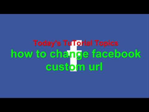 How To Change Facebook Page Custom URL/url facebook.