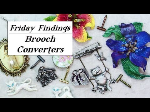 How To Quickly Convert Your Pin To A Necklace Pendant With Brooch Converters-Friday Findings