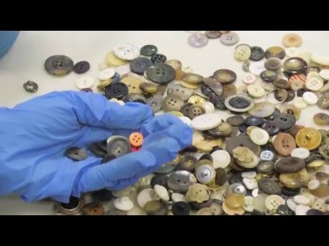 Sorting and cleaning 11 million Holocaust Memorial buttons