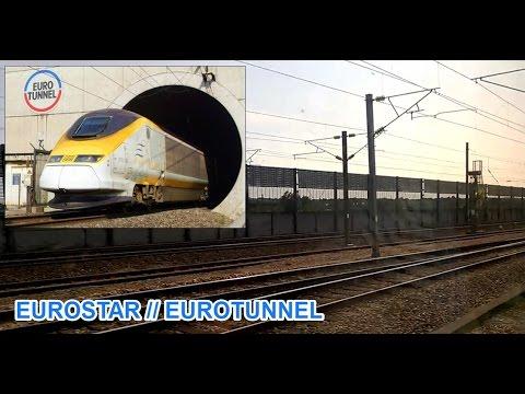 Eurostar from London to Brussels entering Eurotunnel